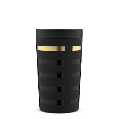 Ello 11oz Stainless Steel Jones Travel Mug Black/Gold