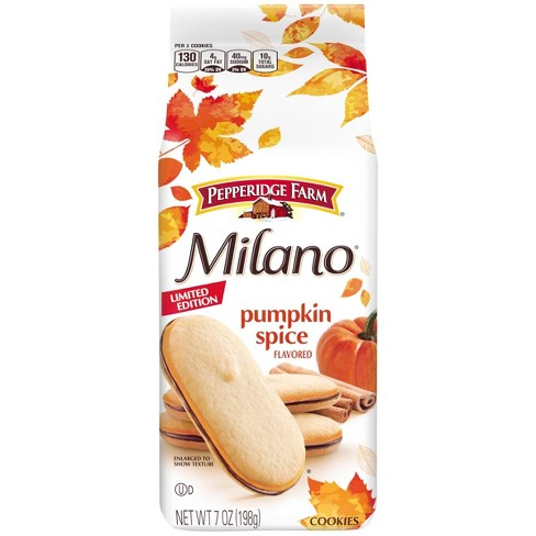 Milano Pumpkin Spice Flavored Cookies - 7oz - image 1 of 4