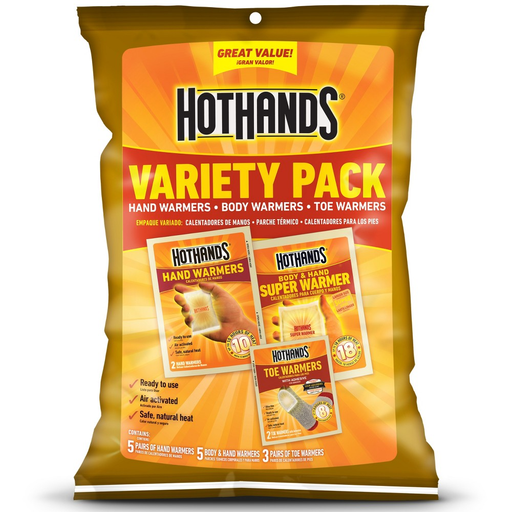 HotHands Variety Pack Warmers - 5pk, White