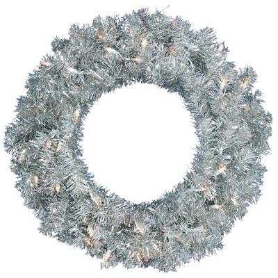 Vickerman Artificial Silver Series Wreath