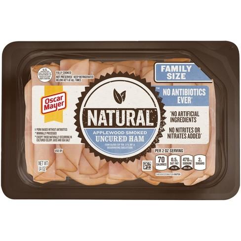 Oscar Mayer Natural Sliced Applewood Smoked Uncured Ham - 14oz - image 1 of 2