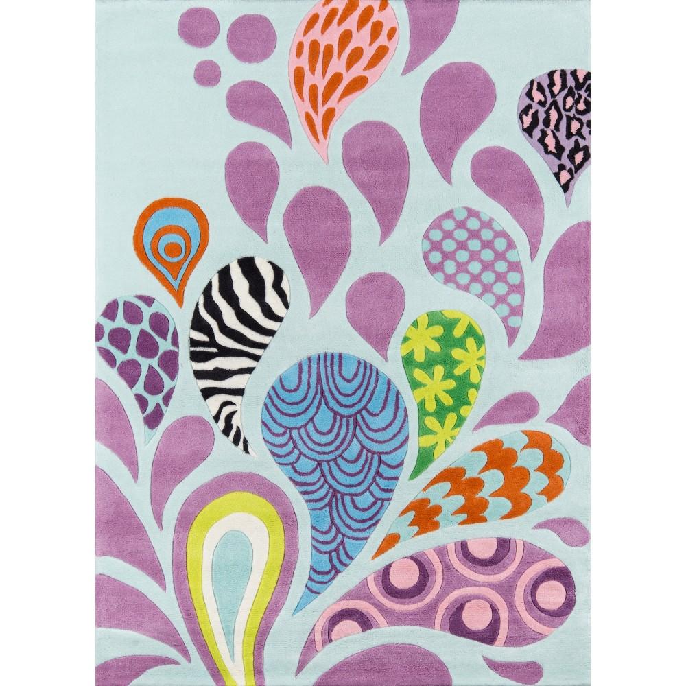 Funky Paisley Area Rug (5'x7'), Multicolored