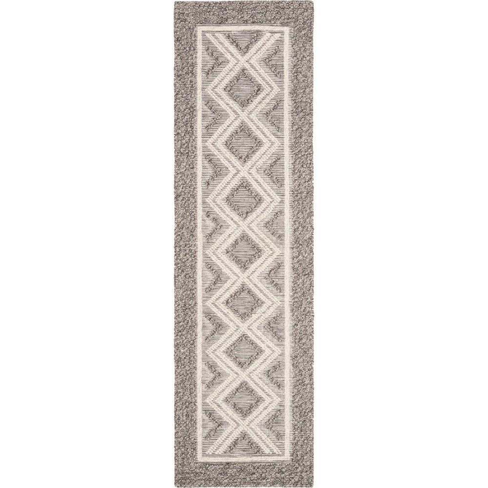 22X8 Geometric Woven Runner Gray/Ivory - Safavieh Buy