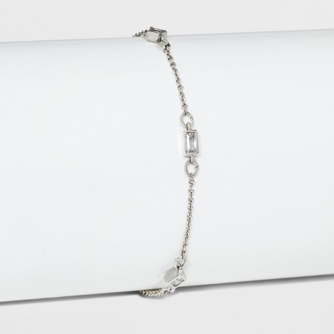 Cubic Zirconia Adjustable Bracelet - A New Day™ - image 1 of 1