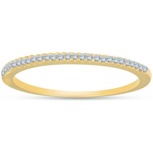 Pompeii3 1 10ct Diamond Wedding Ring 14k Yellow Gold