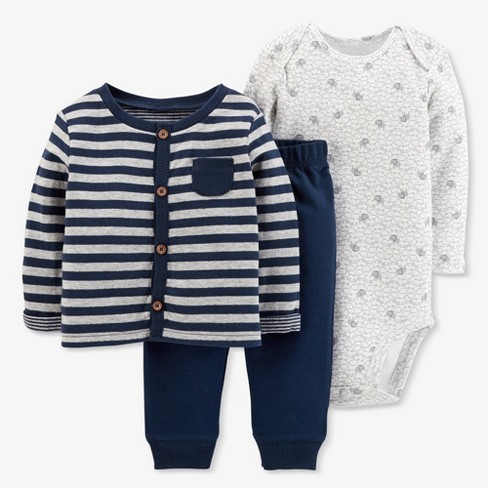 8fbe1de828a1 Baby Boys  3pc Stripe Cardigan Set - Just One You® Made By Carter s ...