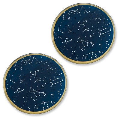12ct Kate Aspen Under the Stars Glass Coasters