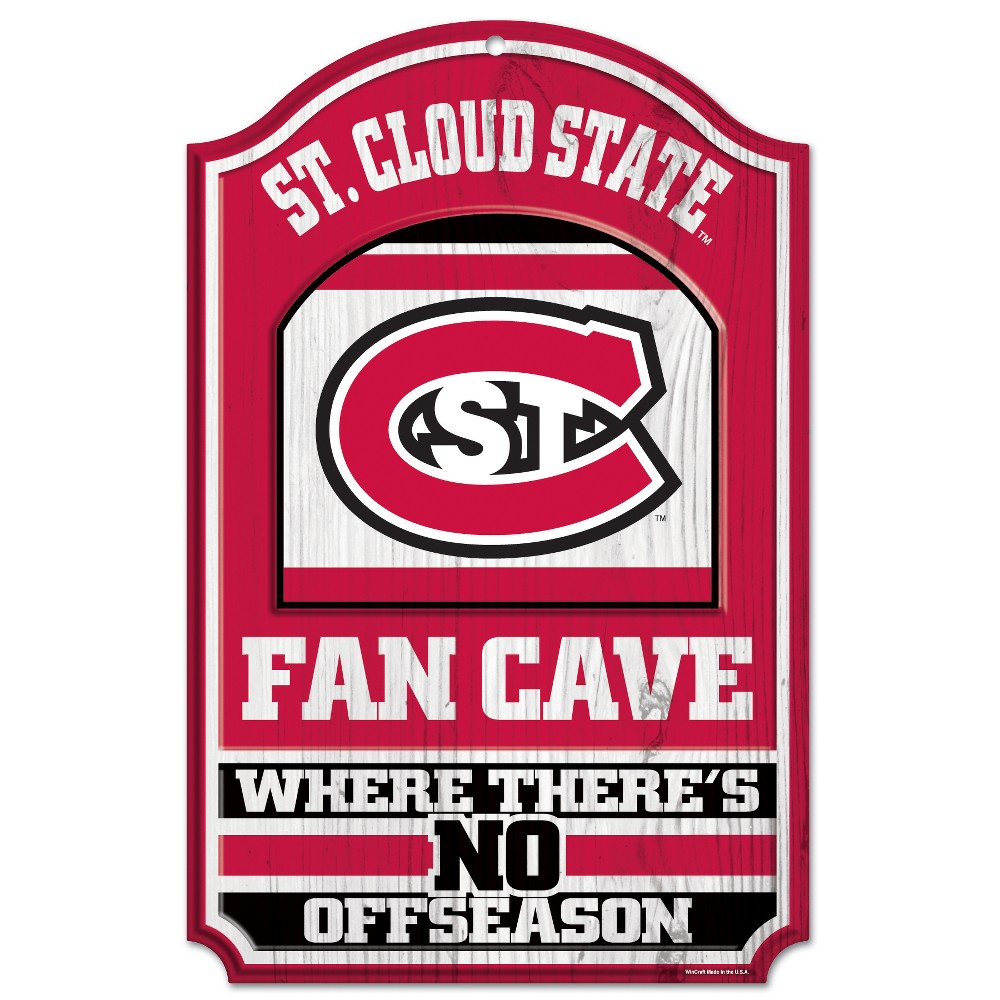 NCAA St. Cloud State Huskies Fence Wall Sign