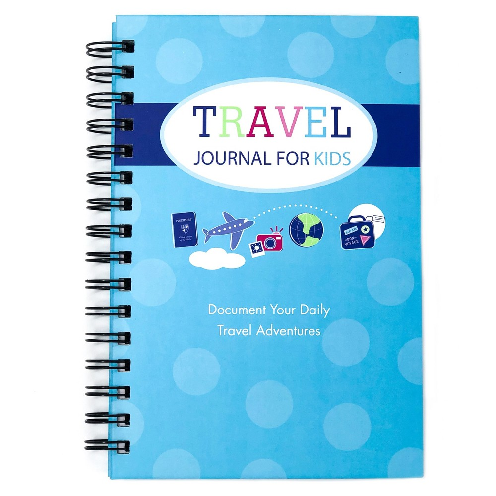 "Image of ""Travel Journal for Kids 8.5""""x5.5"""" Teal - Kahootie Co, Blue"""
