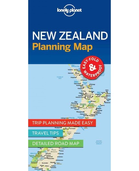 Lonely Planet New Zealand Planning Map (Paperback) - image 1 of 1
