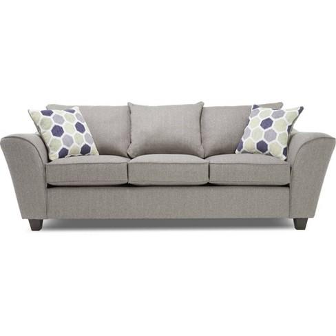 Knox Sofa Light Gray True Seating