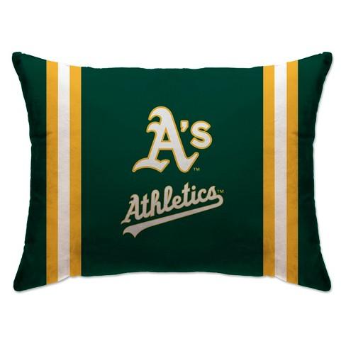 "MLB Oakland Athletics 20""x26"" Team Logo Microplush Bed Pillow - image 1 of 1"