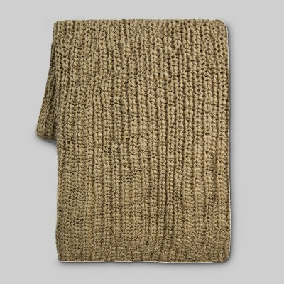Tan Knit Throw Blanket 50 x60  - Threshold™