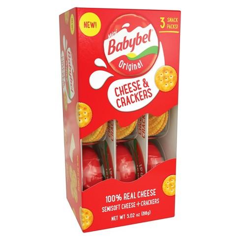 Mini Babybel Original Cheese & Crackers - 3pk - image 1 of 4