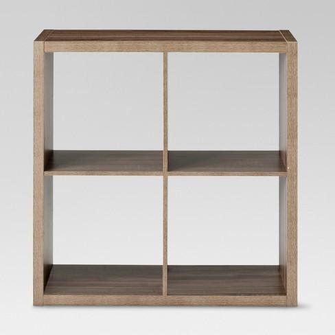 "13"" 4 Cube Organizer Shelf Weathered Gray - Threshold™ - image 1 of 3"