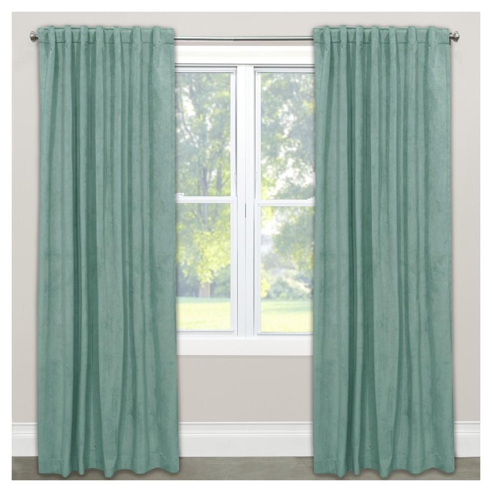 Unlined Velvet Blackout Window Curtain Panel Caribbean (50
