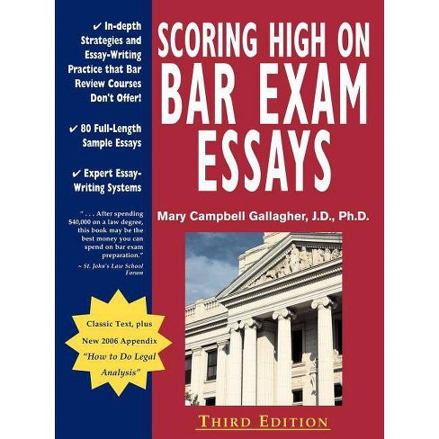 Scoring High on Bar Exam Essays - 3 Edition by Mary Campbell Gallagher  (Paperback)
