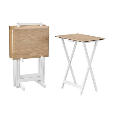 Marlowe Tray Table Set Natural - Linon