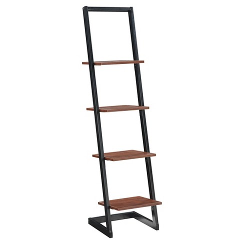 Designs2Go 6614 4 Tier Ladder Bookshelf Black