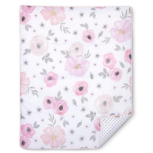 Sweet jojo designs crib bedding set watercolor floral 11pc pink sweet jojo designs crib bedding set watercolor floral 11pc pinkgray target mightylinksfo
