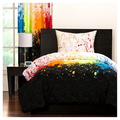 Crayola Cosmic Burst Comforter and Shams - Rainbow (Twin)