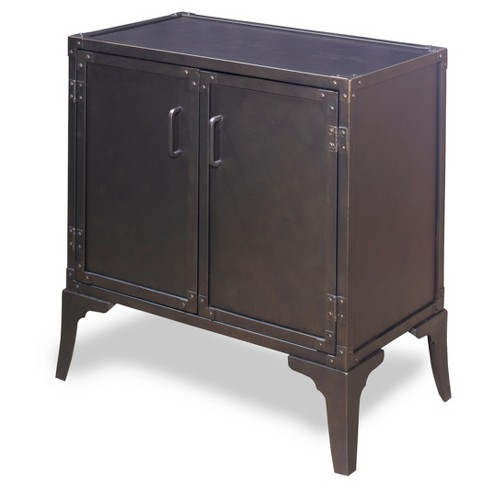 Ryker Metal Door Cabinet - Iron - Gunmetal - Progressive Furniture - image 1 of 1
