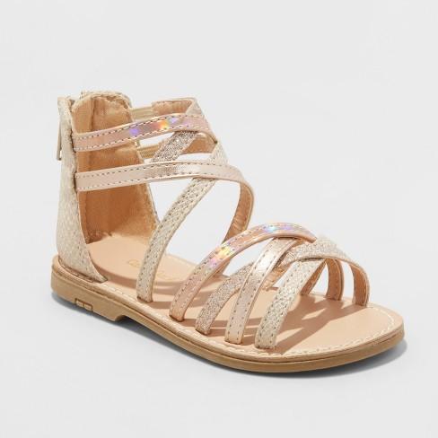 b408b63bcdc1 Toddler Girls  Cami Two Piece Gladiator Sandals - Cat   Jack™ Gold 10    Target