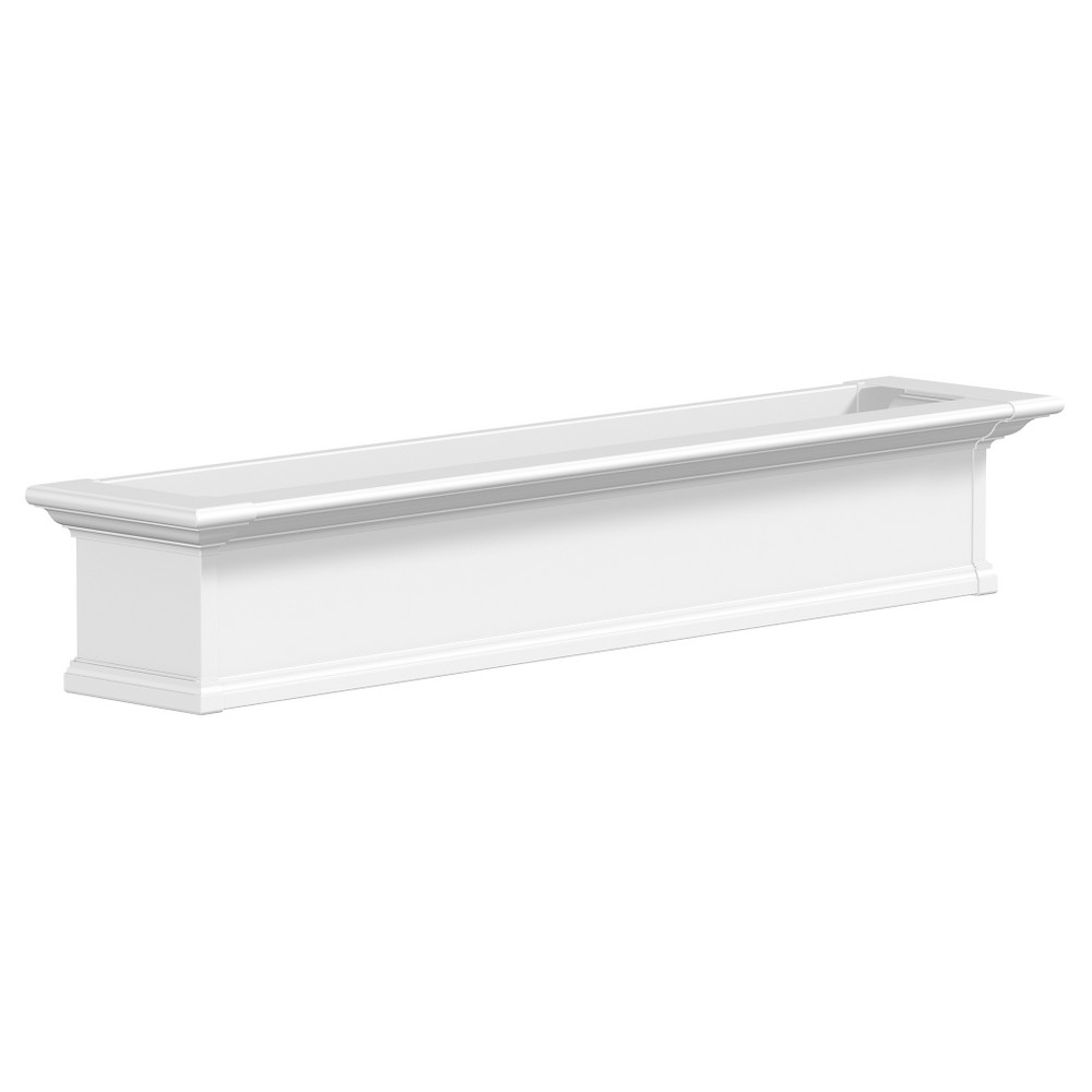 5' Yorkshire Rectangular Window Box - White - Mayne