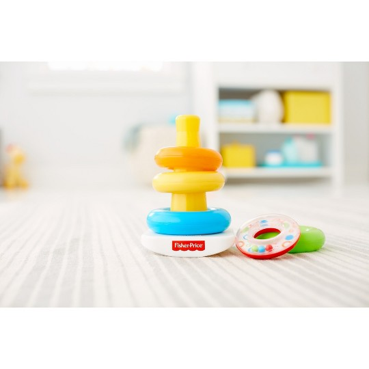 Fisher-Price Rock-a-Stack Sleeve Infant Stacking Toy image number null