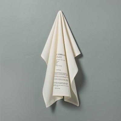 Peach Cobbler Recipe Printed Flour Sack Kitchen Towel Sour Cream - Hearth & Hand™ with Magnolia