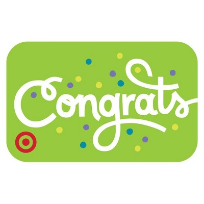 Congrats Type Target GiftCard $50