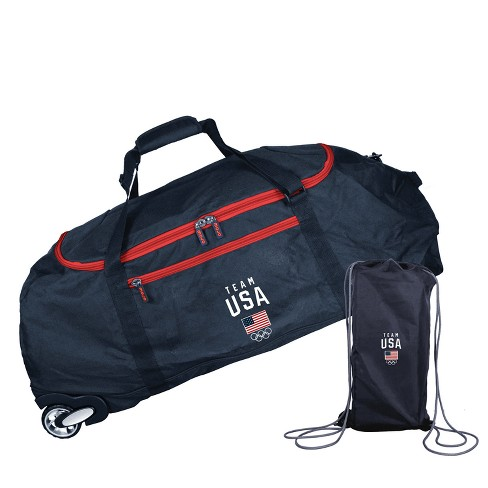 "United States Olympic Team 36"" Rolling Duffel Bag - Black - image 1 of 4"