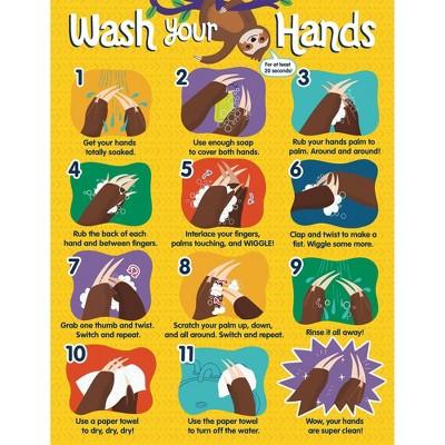 One World Handwashing Chart - Carson Dellosa