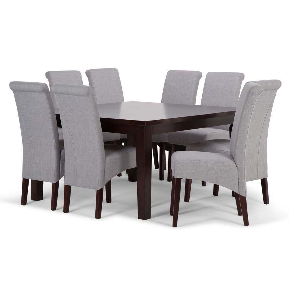 FranklSolid Hardwood 9pc Dining Set Dove Gray - Wyndenhall