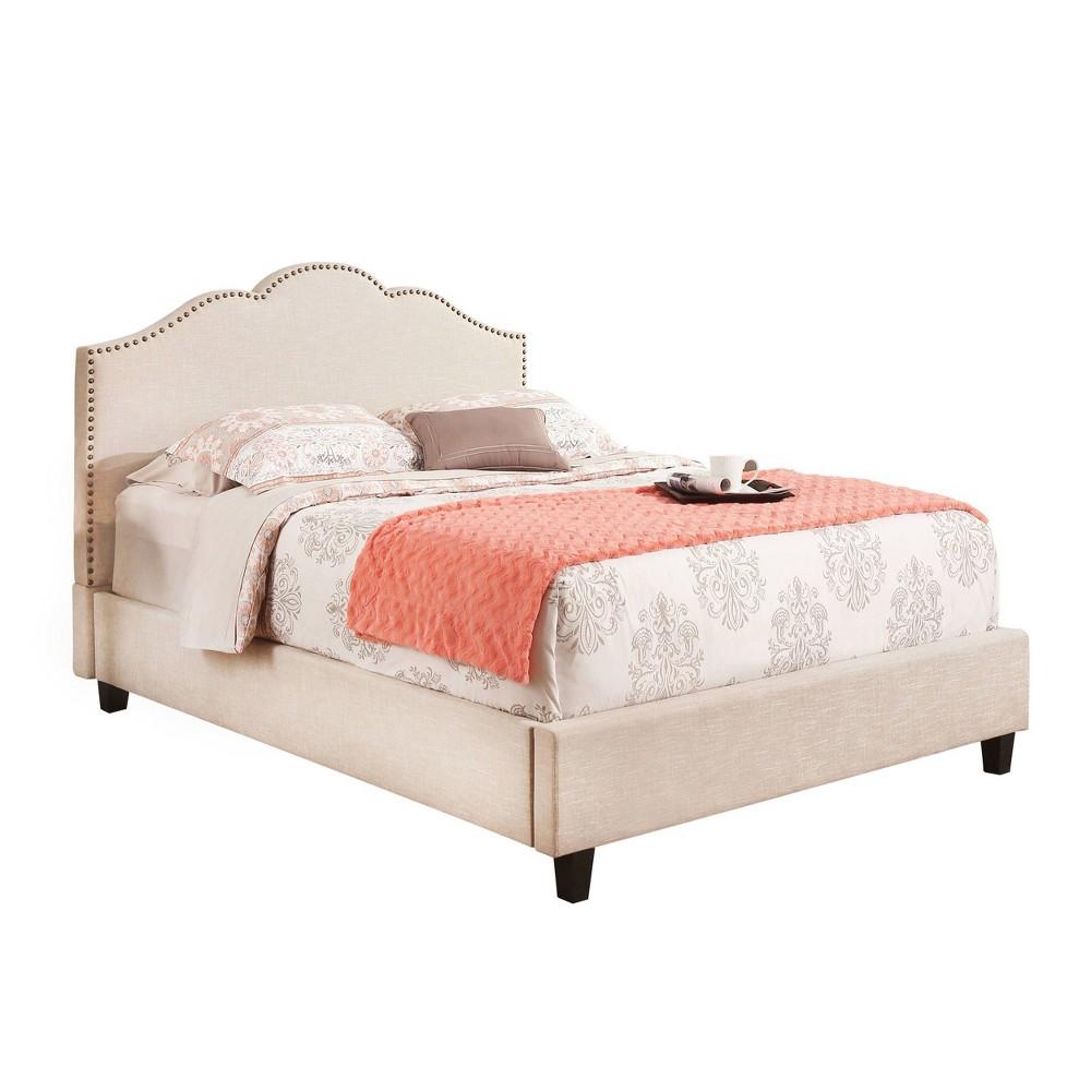 Andrea Upholstered Platform Bed Full Cream - Abbyson Living, Beige