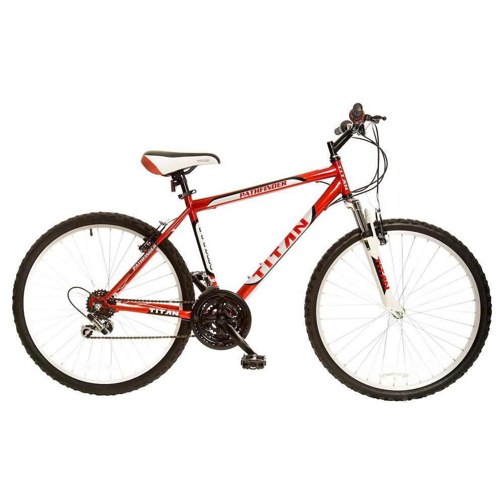 Titan Men S Pathfinder 26 Mountain Bike Red