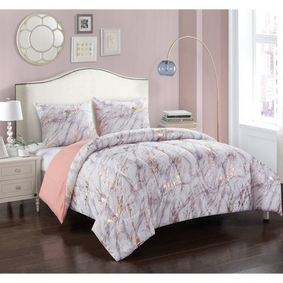 Marble Comforter Set Rose Gold - Heritage Club