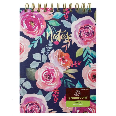 """6"""" x 8"""" 100 Sheet Lined Spiral Notepad Floral - greenroom - image 1 of 3"""