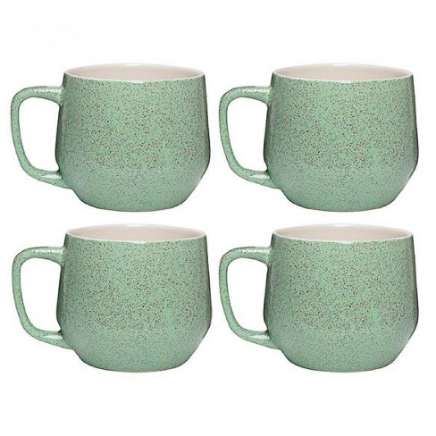 730b8f1d66 Amici Home 22 Oz Set Of 4 Cups Sandstone Ceramic Coffee Mugs Light Green :  Target