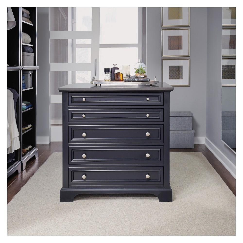Image of Bedford Closet Island - Satin Black - Home Styles