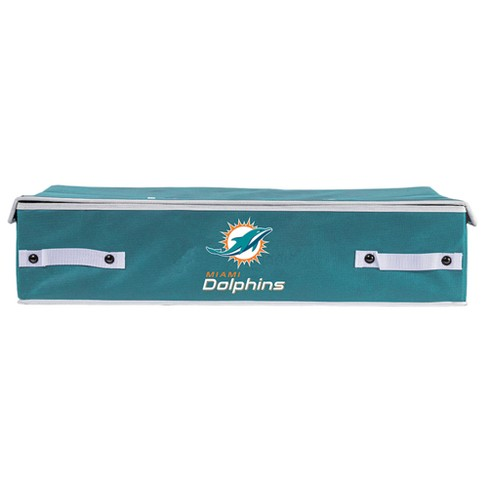 NFL Franklin Sports Miami Dolphins Under The Bed Storage Bins - image 1 of 4
