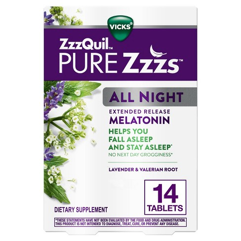 ZzzQuil Pure Zzzs All Night Tablets - 14ct - image 1 of 4