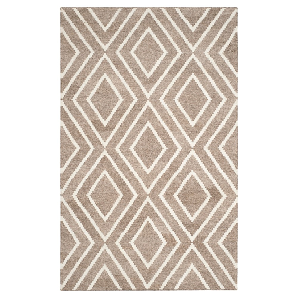 Taupe/Ivory Abstract Woven Area Rug - (5'x8') - Safavieh, Brown/Ivory