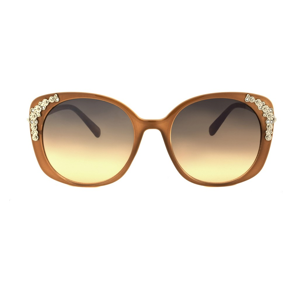 Women's Square Sunglasses with Gems - A New Day Taupe (Brown)