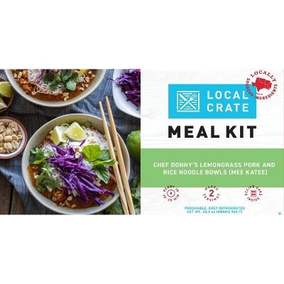 Local Crate Chef Donny's Lemongrass Pork & Rice Noodle Bowls (Mee Katee) Meal Kit - Serves 2 - 33.5oz