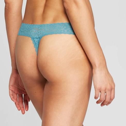 f3d5a2087a74 Women's All Over Lace Thong - Auden™ Dapper Turquoise L : Target