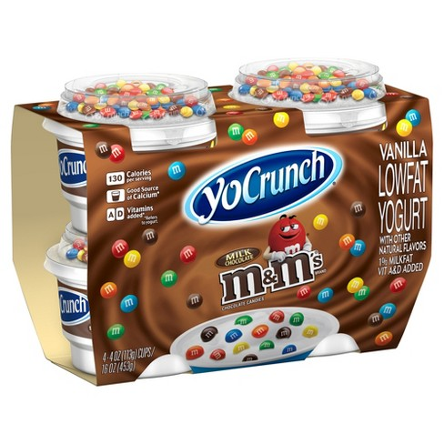 YoCrunch M&M's Vanilla Yogurt - 4oz/4ct - image 1 of 1