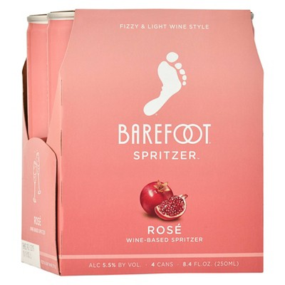 Barefoot Refresh Rosé Wine-Based Spritzer- 4pk/250ml Cans