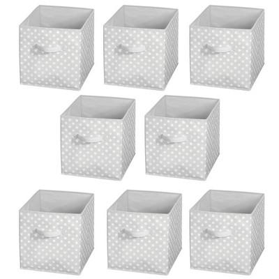 mDesign Kids Fabric Closet Storage Organizer Cube Bin Box