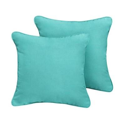 Sunbrella 2pk Canvas Outdoor Throw Pillows Aruba